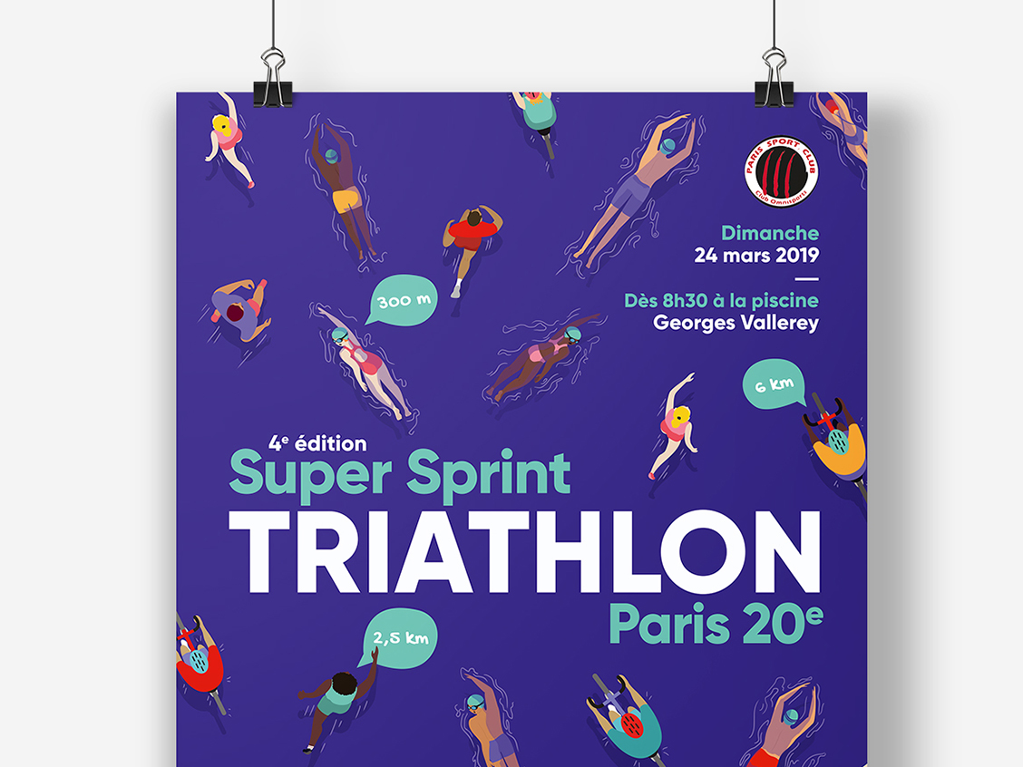 Super sprint triathlon Paris 20e - 2019